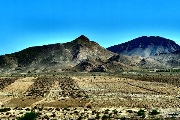 25u Marokas. Atlaso kalnų panorama